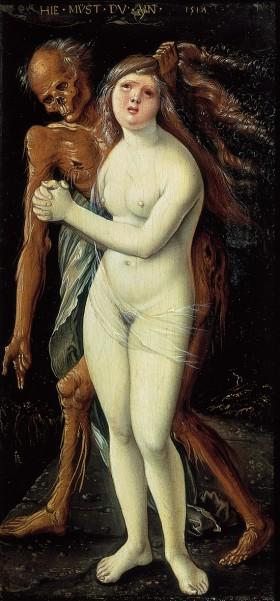 La jeune fille et la mort (Hans Baldung - 1517)